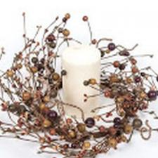 MIXED BERRY GARLAND WITH LARGE BERRIES AND TWINE, 57 IN, HW,