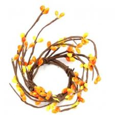 1.5 IN CANDLE RING; 115 BERRIES, ORANGE/YELLOW