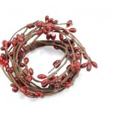 1.5 IN CANDLE RING; 115 BERRIES; RED