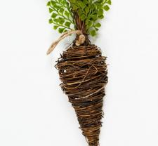 SMALL TWIG CARROT WITH GREENERY; 18 IN