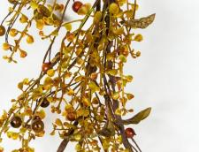 BOXWOOD/BERRY GARLAND WITH TWIGS, HW, 58 IN, OLIVE