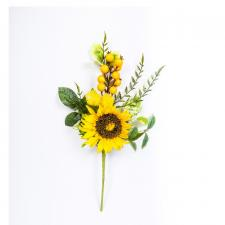SUNFLOWER SPRAY WITH BERRIES, 18 IN
